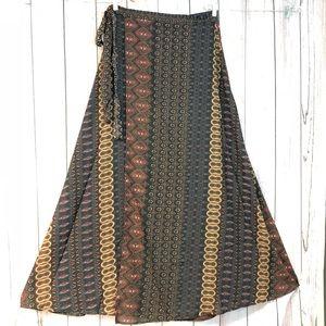 Elan maxi wrap skirt large